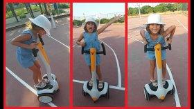 Rollplay elektrikli kaykay ile parkta oynuyoruz.Elif bu işi çözdü , eğlenceli çocuk videosu