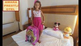 Amara Prestij Hotel Elif Valizini boşaltıyor