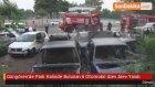 Güngören'de Park Halinde Bulunan 6 Otomobil Alev Alev Yandı