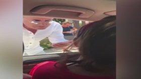 Valenin Bodrum'da Kadın Sürücüye Saldırması