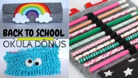 Dikişsiz 2 Farklı Kalemlik / No - Sew Pencil Cases / Back To School