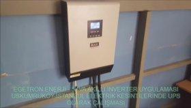 İstanbul Uskumruköy - Elektrik Kesintilerinde 6 Saat Boyunca Elektrik İhtiyacının Karşılanması