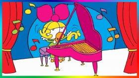 Limon ile Zeytin   Piyano Başında   Kardan Kadın   Boyama Videoları