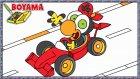 Limon ile Zeytin | Yarış Arabası | Karikatür Nasıl Boyanır | Boyama